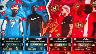 I PULLED UP ON A 99 OVERALL IN NBA 2K19 and this happened... BEST DEMIGOD BUILD VS 99 OVERALL LEGEND