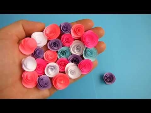 How To Make Small Paper Rose Flower - DIY Handmade Craft - Paper Craft. x3