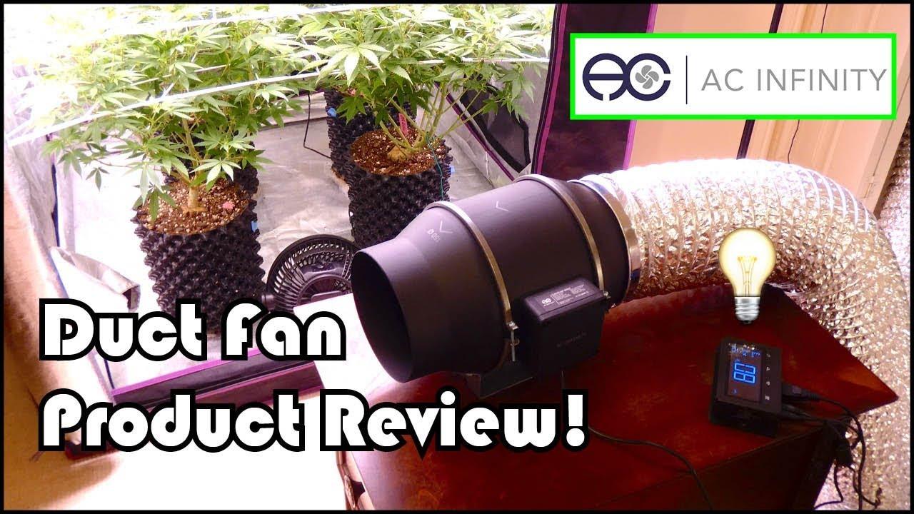 high tech ducting fan for growing cannabis ac infinity cloudline t6