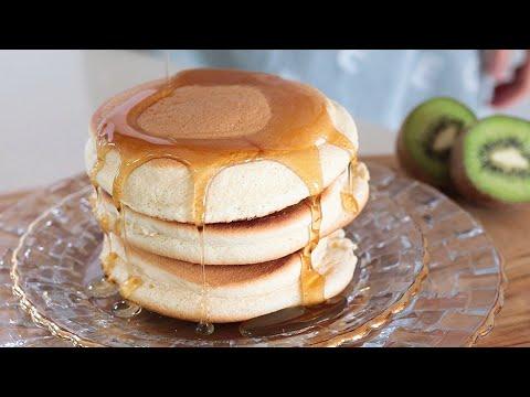 Easy Fluffy Pancake Recipe🍯🍯🍯