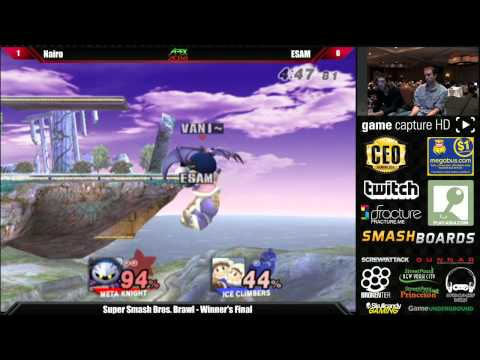 Super Smash Bros Brawl Winner's Final Nairo vs ESAM - Apex 2014 Tournament