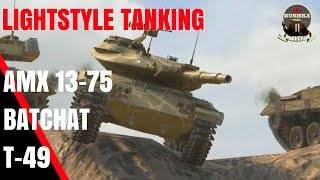 LIGHT TANKS OF BLITZ WITH BUSHKA T49 BATCHAT AMX 13 75