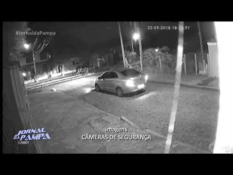 Câmeras de segurança flagram assalto na Zona Norte de Porto Alegre | Jornal da Pampa | 23/05/2018