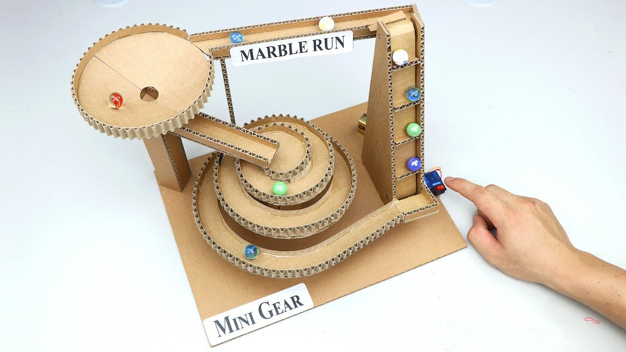 Amazing DIY Marble Run Machine from Cardboard