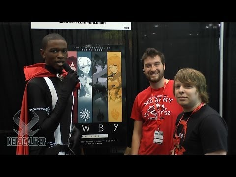 RWBY! Writers Kerry Shawcross And Miles Luna At New York Comic Con 2013