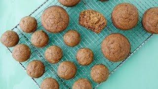 Pumpkin Spelt Muffins - Healthy Holiday Recipes - Weelicious Featuring 100 Days Of Real Food