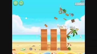 Angry Birds Rio - Golden Beachball Level 1 - Walkthrough 3 Stars