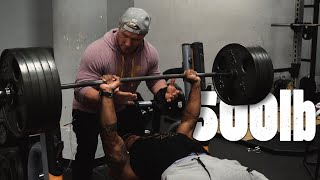 500lb 226kg Bench .. Enough Said | Dominate Or Be Weak