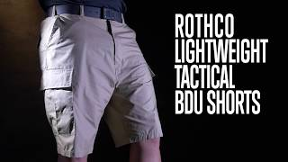 Lightweight Tactical BDU Shorts - Rothco Product Breakdown