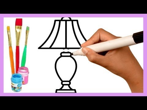 How to Draw Table Lamp Drawing & Coloring Pages for Kids: Sketch Art