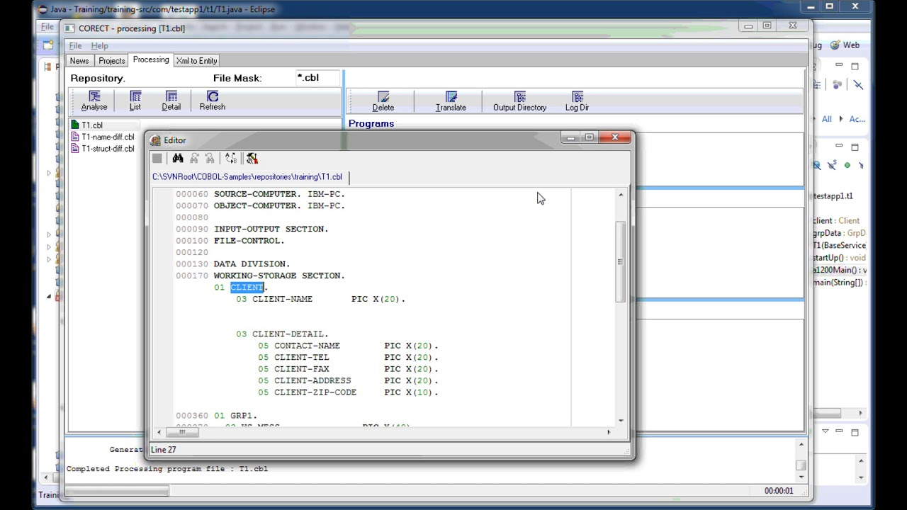 COBOL to Java & C# Conversion Tool Tutorials