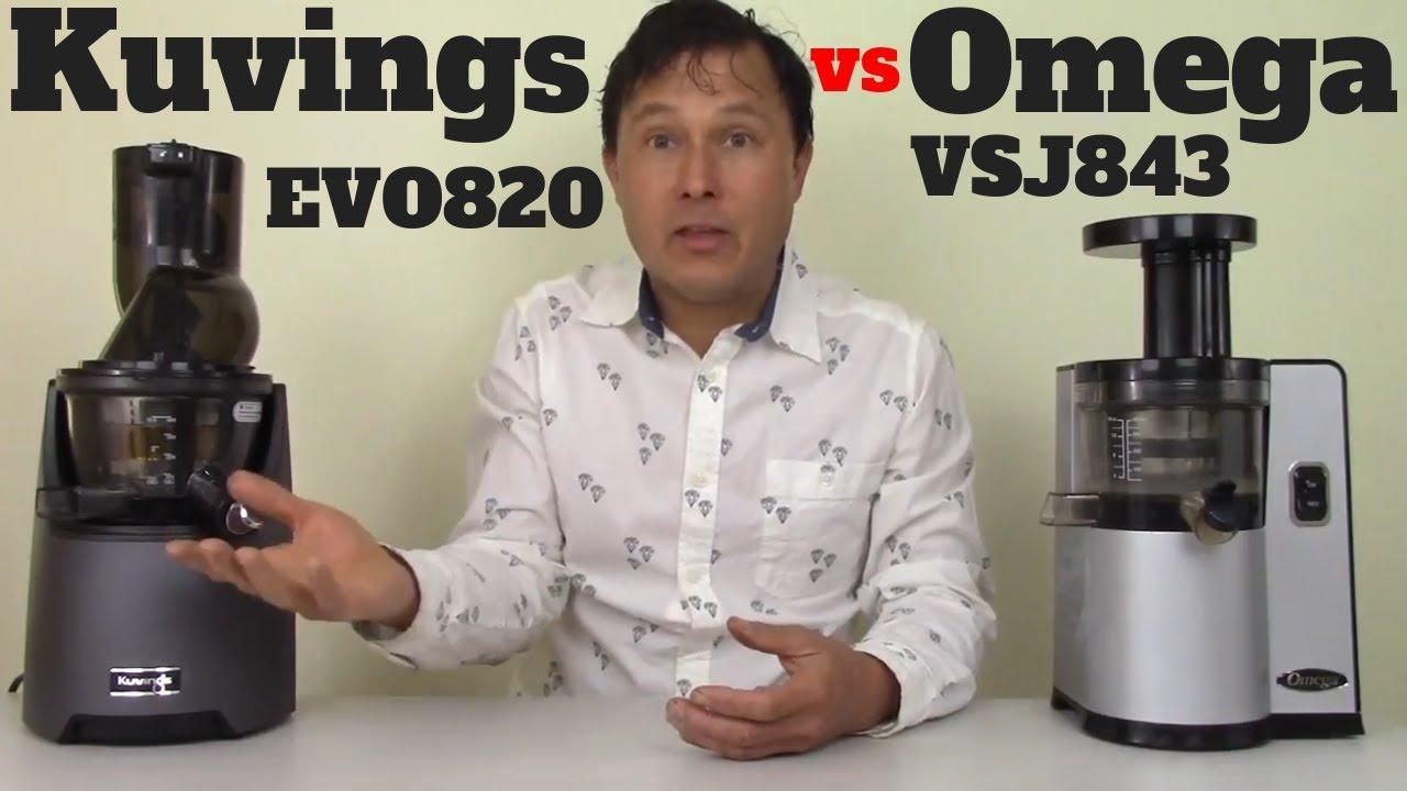 Kuvings Evolution EVO820 vs Omega VSJ843 Slow Juicer Comparison Review