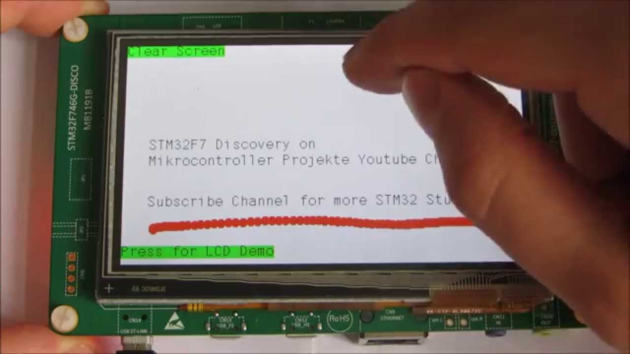 STM32F7 Discovery TFT Touch Demo ARM Cortex M7 STM32F746G-DISCO