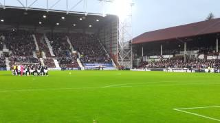 Hearts v Raith, Lone Piper, Flowers of the Forest.