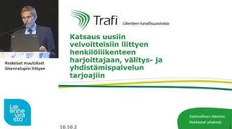 Liikennepalvelulain sidosryhmätilaisuus - Keskeiset muutokset liikennelupiin liittyen