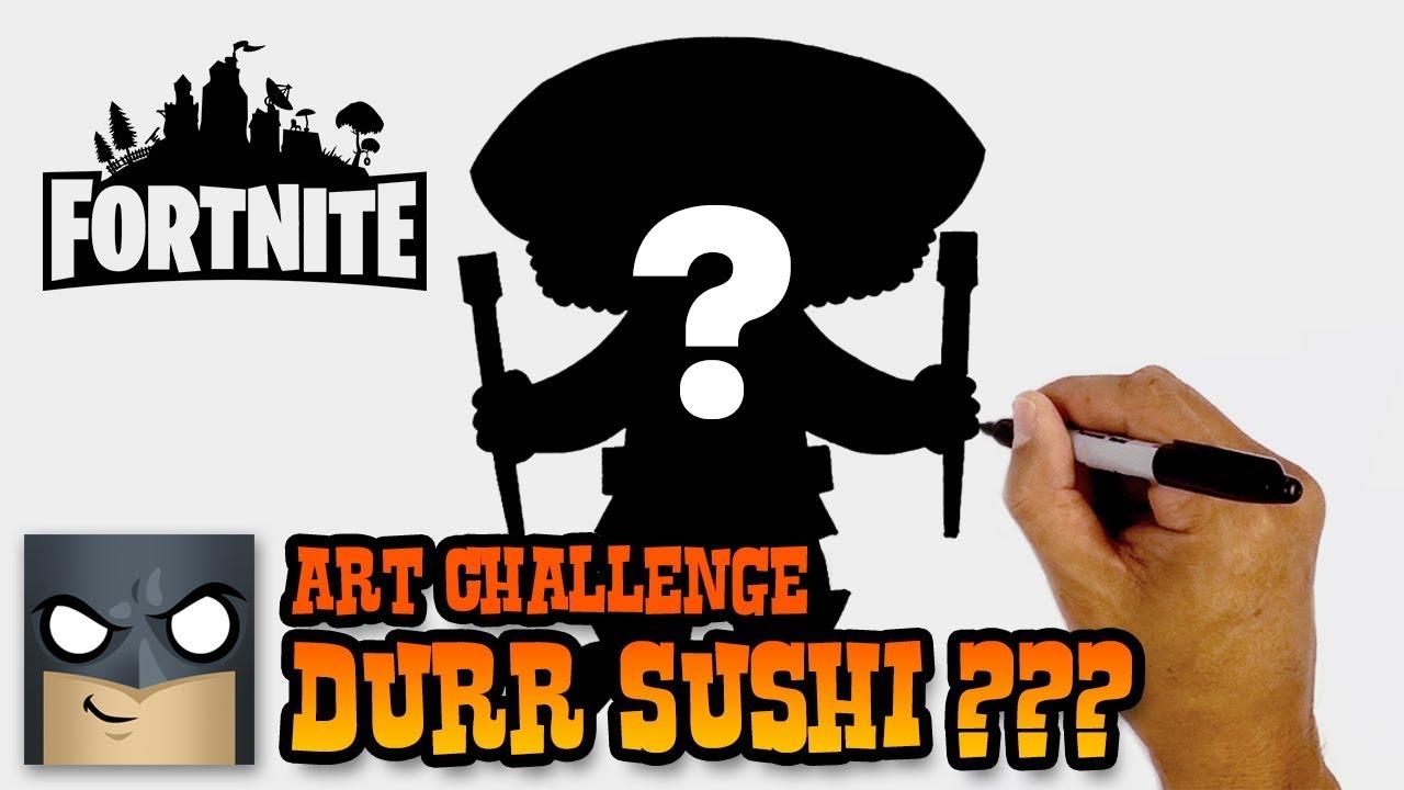 How to draw fortnite sushi skin super art challenge - Sushi skin fortnite ...