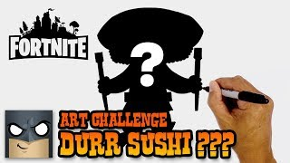 Durr Sushi? Creating a NEW Fortnite Skin | Super Art Challenge