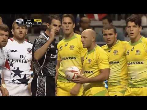 (HD) Vancouver 7s | USA v Australia | Pool C | Full Match Highlights | Rugby Sevens