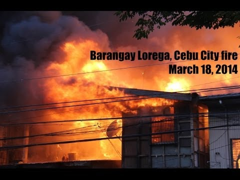 Lorega, Cebu City fire