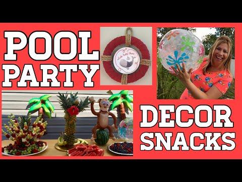 Pool Party Ideas 2019 | DIY Summer Party | Snacks & Decor!