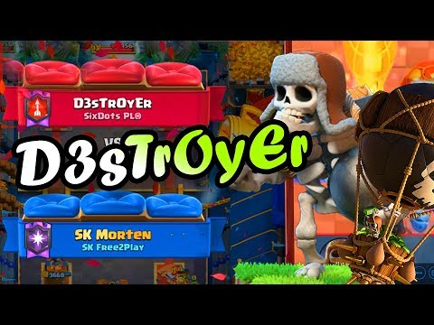 D3sTrOyEr👈GIANT SKELETON DECK COUNTERS EVERYTHING!! - Clash Royale