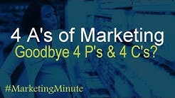"Marketing Minute 079: ""4 A's of Marketing (No More 4 P's & 4 C's?)"" (Marketing Basics)"