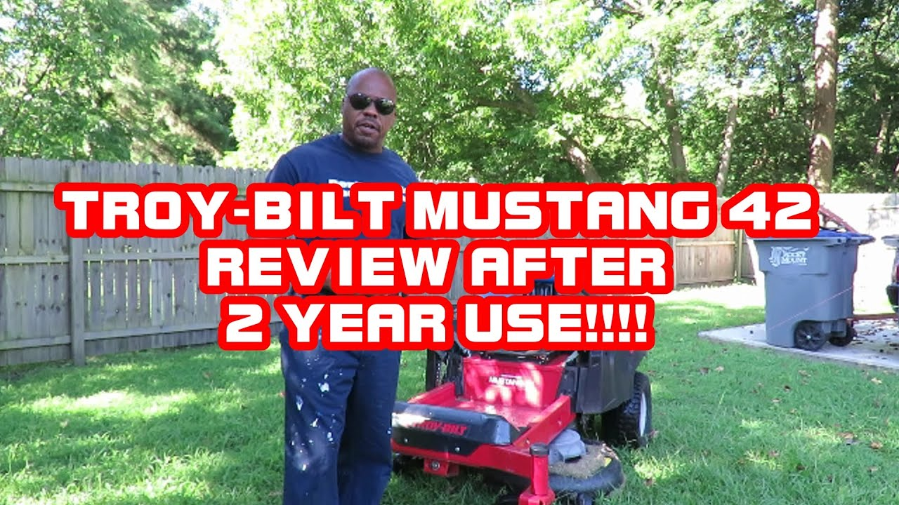Troy-Bilt Mustang 42 Inch Zero Turn Mower Review After 2 YEARS USE