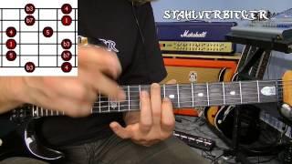 Gitarre lernen - Die Tonleitern - Die Pentatonik - Fingersatz2
