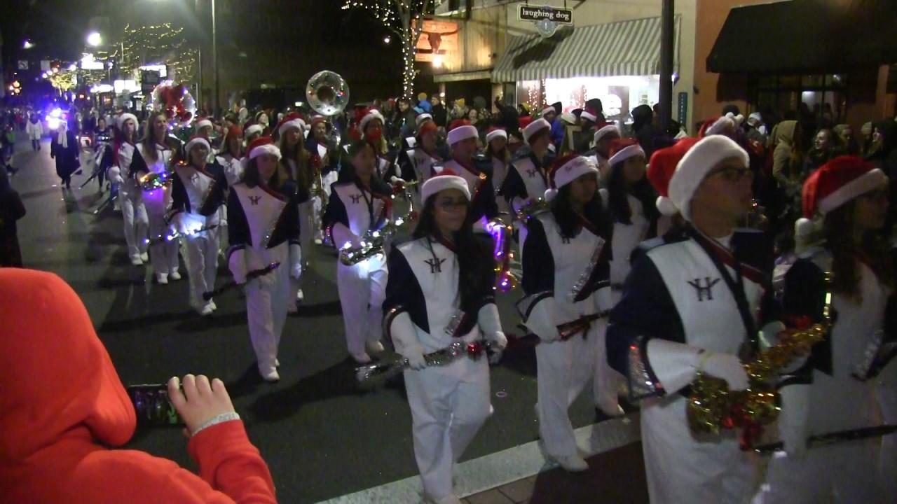 Harrisonburg Christmas Parade 2019 Harrisonburg High School marching blue streaks band Christmas