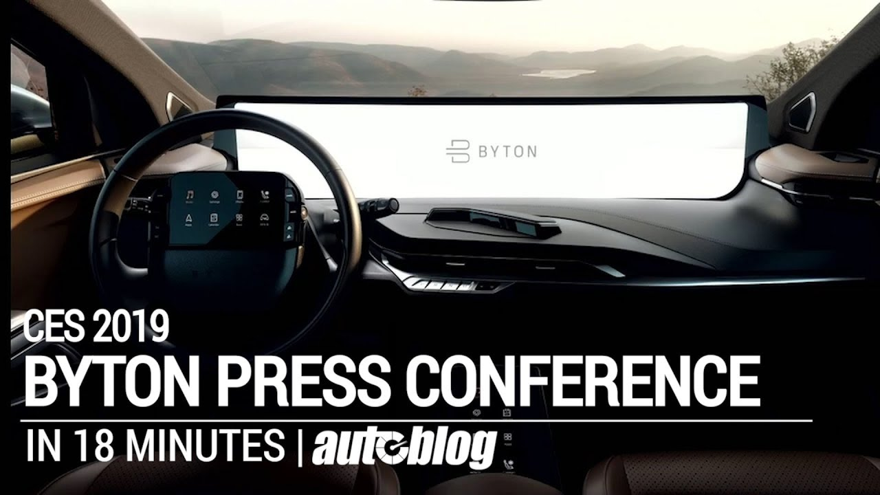 Byton press conference in 18 minutes at CES 2019