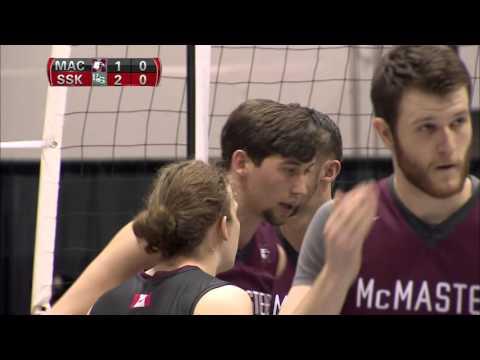 CIS Men's Volleyball Championship 2016 - Game 8 - Saskatchewan vs McMaster 11_3_16