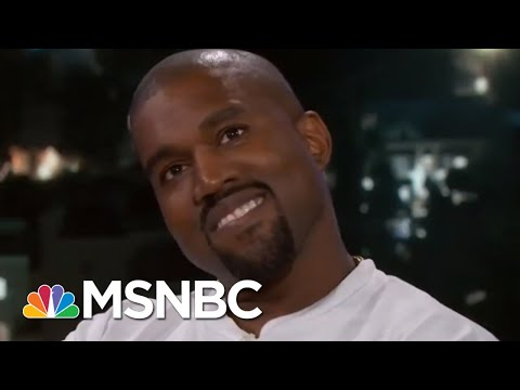 Kanye West Goes Silent On Jimmy Kimmel's President Donald Trump Question | Velshi & Ruhle | MSNBC