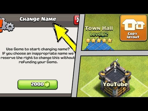 Clash Of Clans UPDATE - NAME CHANGE, COPY BASE LAYOUT & MORE! Town Hall 12 CoC Update 2018!