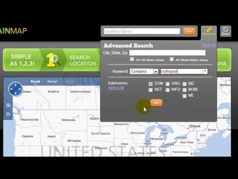 GEO Godaddy - Neat free tool - GEO Domain Map