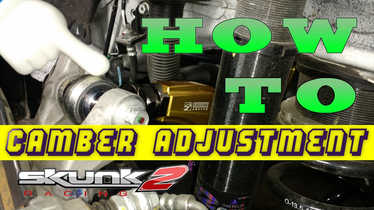 How To Adjust Camber Honda Civic Skunk2 Youtube