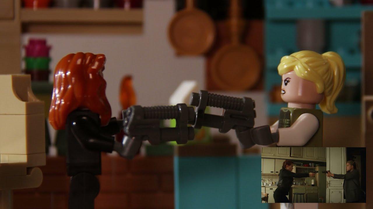 블랙위도우 예고편 따라하기 레고 스톱모션