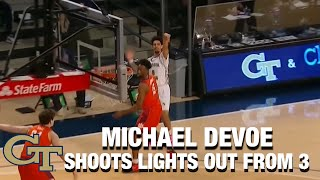 Georgia Tech's Michael Devoe Shoots Lights Out From 3