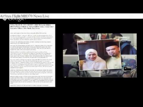 Malaysia Airlines Flight MH370 News Live (28/3/2014)