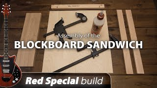 Red Special build - Part 01 - Blockboard sandwich