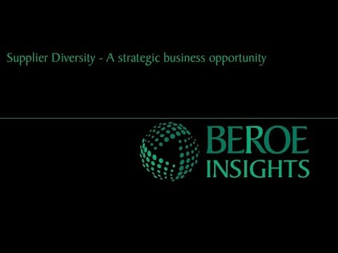 Supplier Diversity in Pharma - A Strategic Business Opportunity