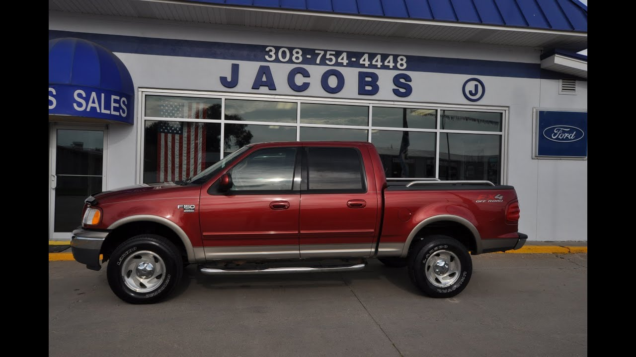 2001 ford f150 4wd v8 crew cab 5 4l xlt for sale from jacobs ford youtube. Black Bedroom Furniture Sets. Home Design Ideas