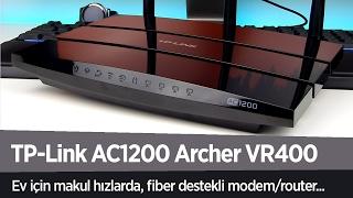 "TP-Link AC1200 Archer VR400 Modem/Router incelemesi ""Ev için makul ve stabil"""