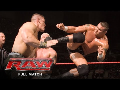 FULL MATCH- Batista, Michaels, Cena & Undertaker vs Edge, Orton, MVP & Mr Kennedy: Raw, Feb 15, 2007