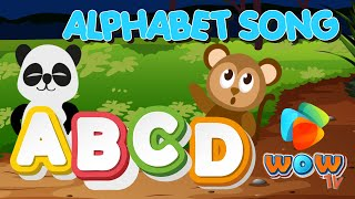 🎹⭕ALPHABET SONG - WOW TV Kids  School Songs English and Spanish Version ABC Song