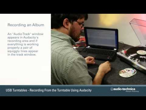 How to Record Using Audacity Software for Windows 10 with Your Audio-Technica USB Turntable