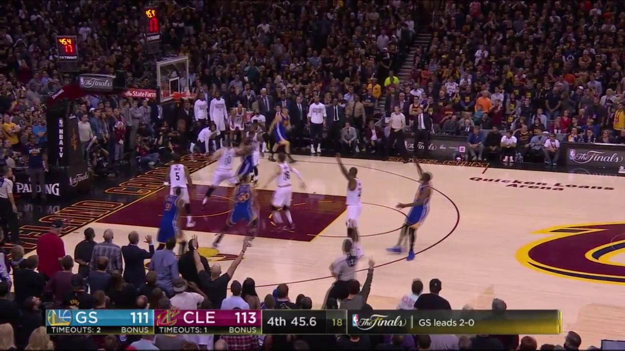 52a8e7fea7f8 Cavs fan reaction to Kevin Durant Dagger - NBA Finals Game 3 (June 7 ...