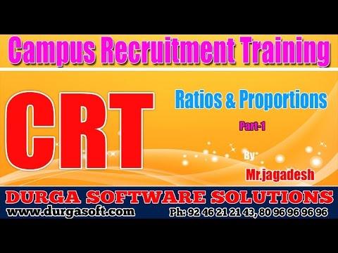 Campus Recruitment Training (CRT) || Ratios & Proportions Part - 1