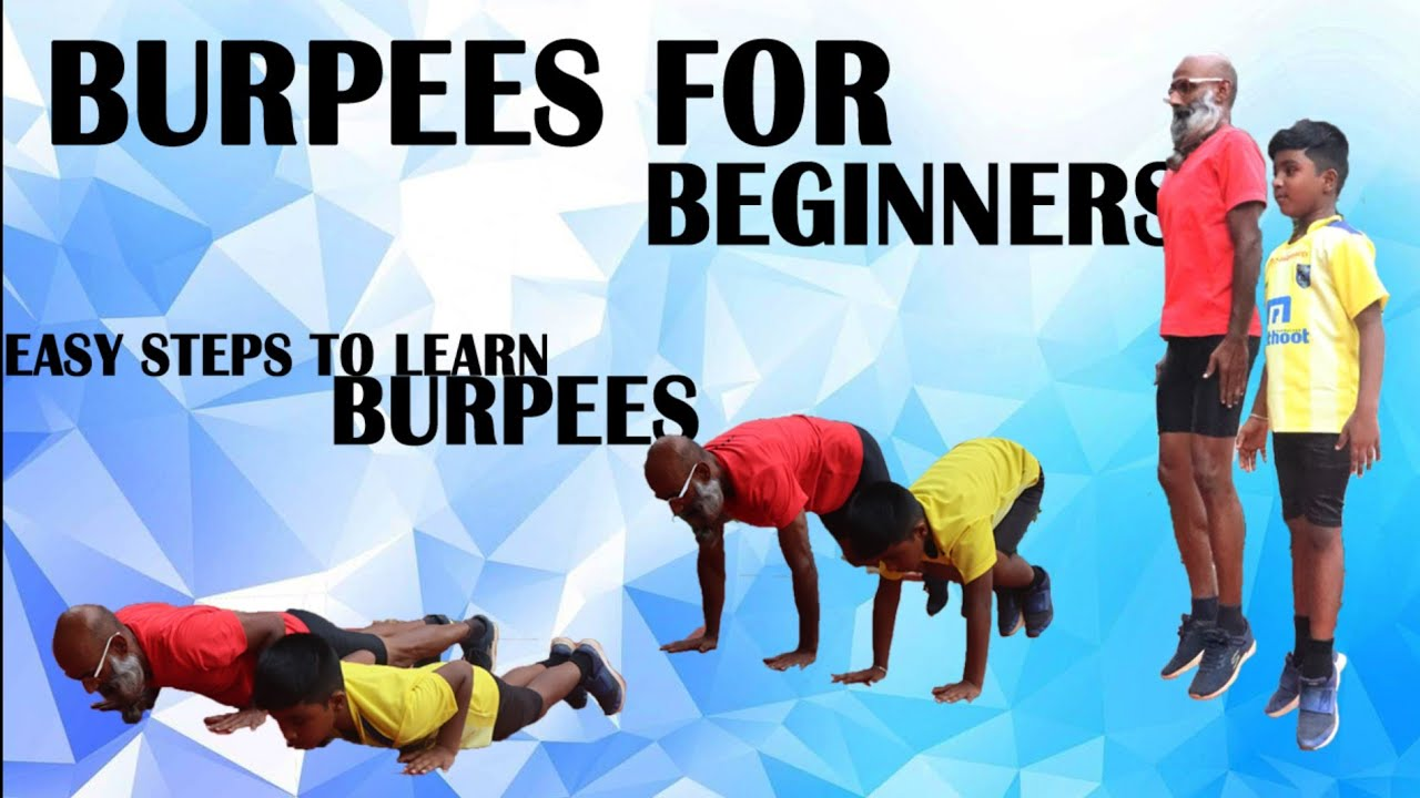 Burpees for beginners easy steps to learn burpees