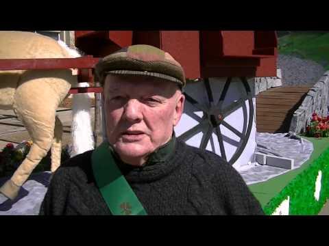 John Wayne's Quiet Man movie -- float at St Patrick's Day Parade