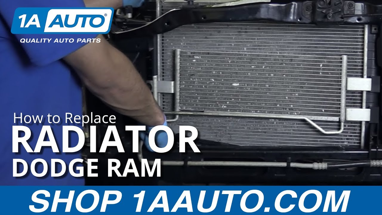 hight resolution of how to replace radiator 04 08 dodge ram